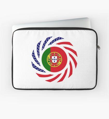 Portuguese American Multinational Patriot Flag Series Laptop Sleeve