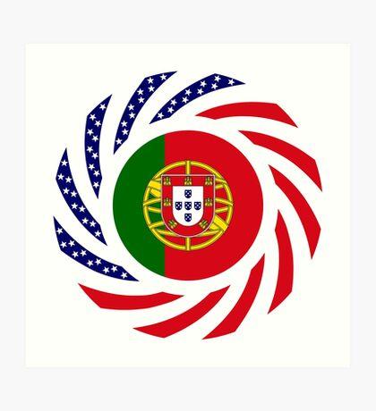 Portuguese American Multinational Patriot Flag Series Art Print
