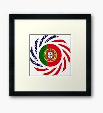 Portuguese American Multinational Patriot Flag Series Framed Print