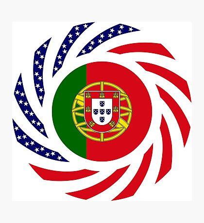 Portuguese American Multinational Patriot Flag Series Photographic Print