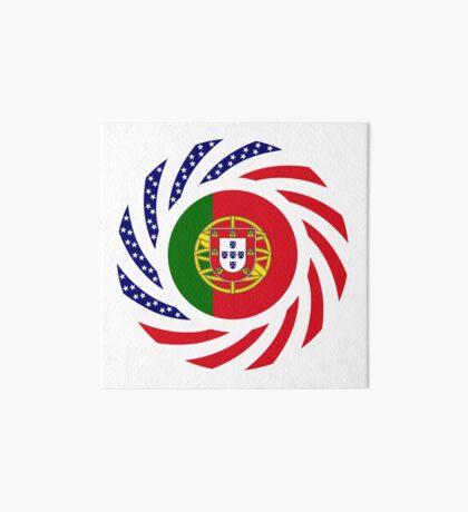 Portuguese American Multinational Patriot Flag Series Art Board Print