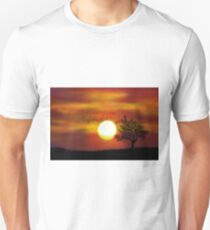 Orange Sunset Tree T-Shirt