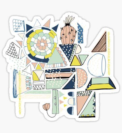 modern cactus pop art Sticker