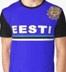 Estonia Eesti National Flag & Coat of Arms Graphic T-Shirt