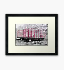 Red Farm Equipment Framed Print