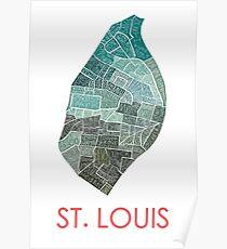 St. Louis Neighborhood Map Poster
