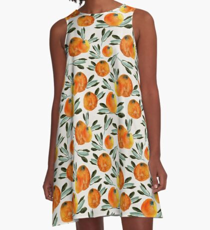 Sonnige Orange A-Line Dress