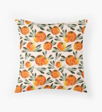 Sonnige Orange Throw Pillow