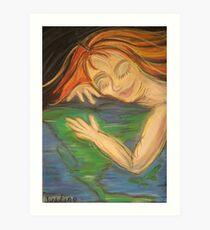 Gaia Awakening Earth Art Print