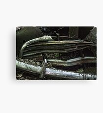 Vintage Old Car Grill And Bumper Canvas Print