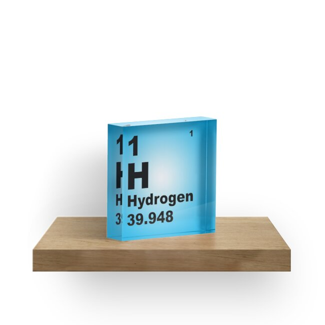 Blue Gradient Color Tile Block Hydrogen Periodic Table Of Elements By  Walterericsy