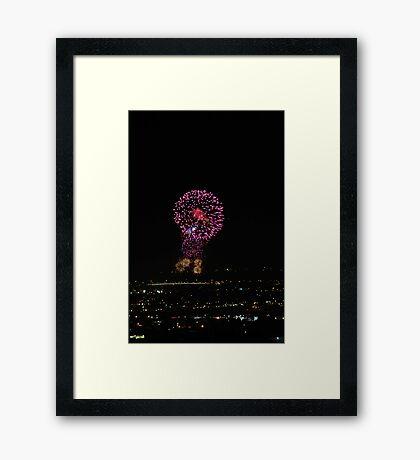 Australia Day Fireworks Framed Print
