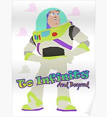 Vintage Buzz Classic Toy Story To Infinity  Poster