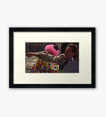 Hal Punches Clown Framed Print