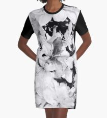 Spring Flowers Graphic T-Shirt Dress