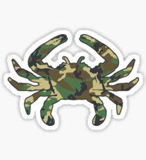 Woodland Camo Crab Sticker