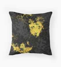 Gray and Yellow Abstract Throw Pillow