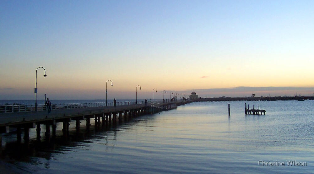 Sun Sets of Over St Kilda Pier   by Christine Wilson