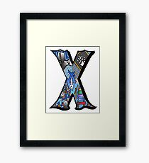 Doodle Letter X Framed Print