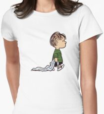 Linus The Peanuts Womens Fitted T-Shirt