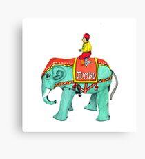 """""""Jumbo"""" Vintage Tin Wind-Up Toy Canvas Print"""