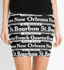 Street Sign Scenes of New Orleans Mini Skirt