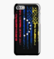 Venezuela and America Flag Combo Distressed Design iPhone Case/Skin