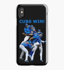 Cubs Win! iPhone Case/Skin