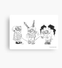 On the Playground Canvas Print