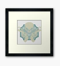 Skulls & Guns blue Framed Print