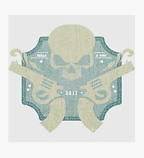 Skulls & Guns blue Photographic Print