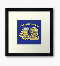 The Answer is 42 - Hitchhikers Guide to the Galaxy  Framed Print