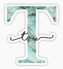 marble watercolor - tau Sticker
