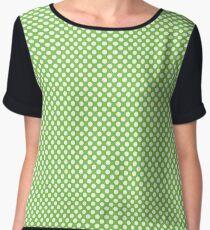 Jasmine Green Polka Dots Chiffon Top