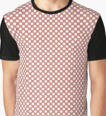Terra Cotta Polka Dots Graphic T-Shirt