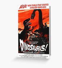 Dinosaurus ! - vintage movie poster Greeting Card