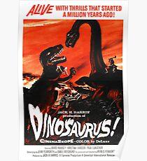 Dinosaurus ! - vintage movie poster Poster
