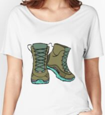 Hiking Boots Women's Relaxed Fit T-Shirt