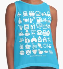Medical Tourism Travel Icon Contrast Tank