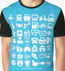 Medical Tourism Travel Icon Graphic T-Shirt