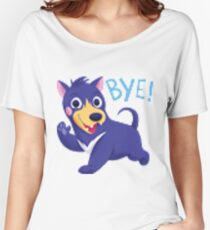 Bye dog shirt pixel distortion Women's Relaxed Fit T-Shirt
