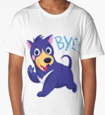 Bye dog shirt pixel distortion Long T-Shirt