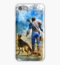 Fallout 4 Vault Dweller and Dogmeat Painting iPhone Case/Skin