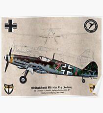 Messerschmitt Me 109 K-4 (Kurfürst) Poster
