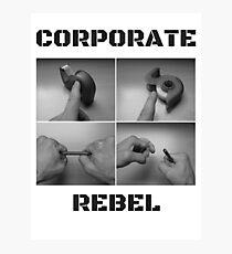 Corporate Rebel Photographic Print