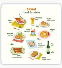 SKAM Food and Drinks Sticker
