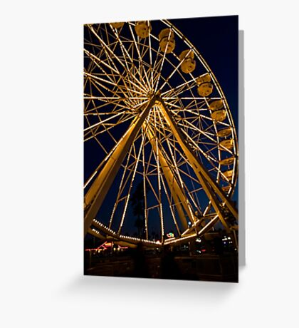 Ferris wheel at twilight Greeting Card