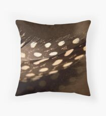 Guinea-Fowl Feather Throw Pillow