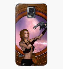 Wonderful steampunk lady with steam dragon Case/Skin for Samsung Galaxy