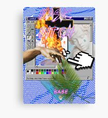 Basic Bitch babe a e s t h e t i c Canvas Print